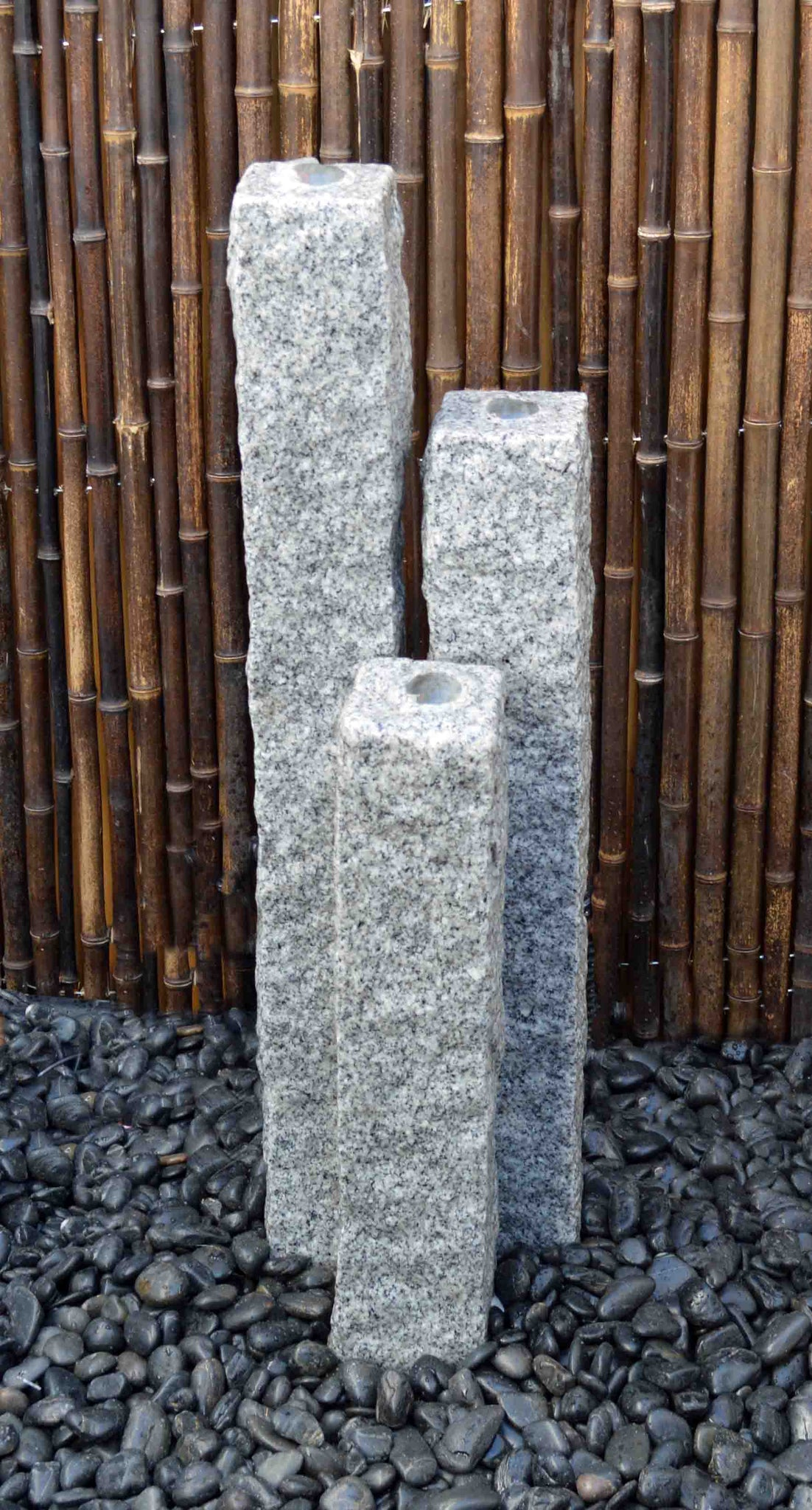 "Natural Granite Fountains 4"" Base"