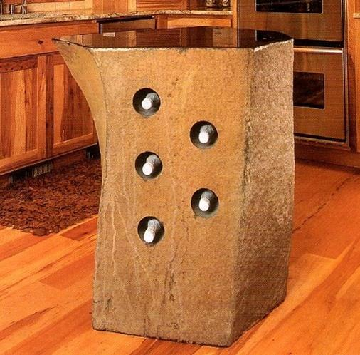 Wine Rack with Polished Table Top