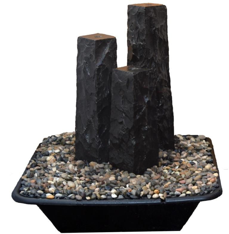 "8"" Chiseled Basalt Fountain Kits"