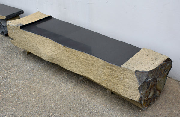 Polished Wing Basalt Bench