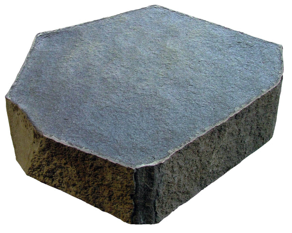 "Basalt Hex Pavers ,~24"" Diameter, 6"" thick, Flamed Finish"