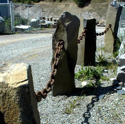 Red Bluff Basalt Column Fence Post for Chain Fence/Gate