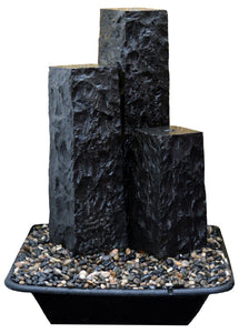 "12"" Chiseled Basalt Fountain Kits"