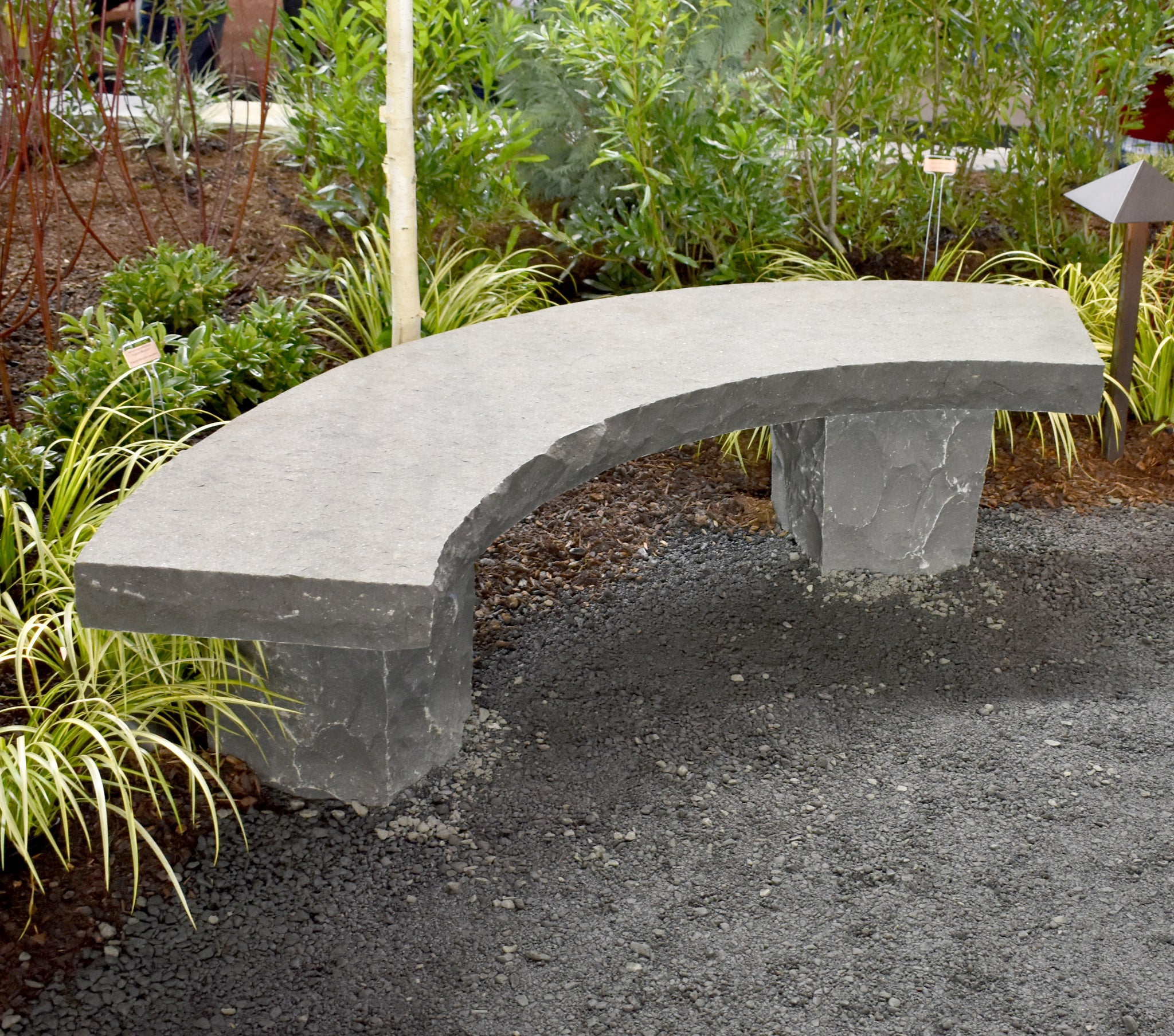 Curved Basalt Bench