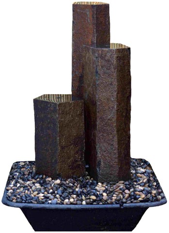 "Flat Top, ~13"" Red Bluff Basalt Fountain Kits"