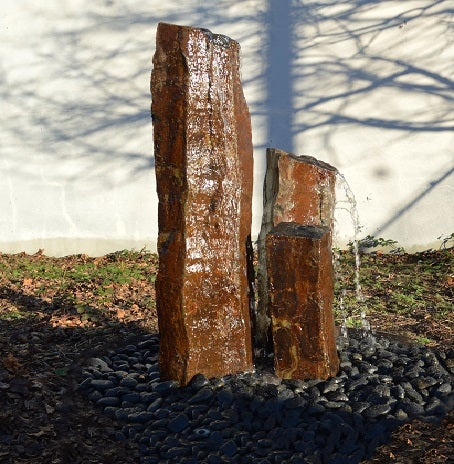 "Gold Creek Basalt Fountain, ~10"" Wide"