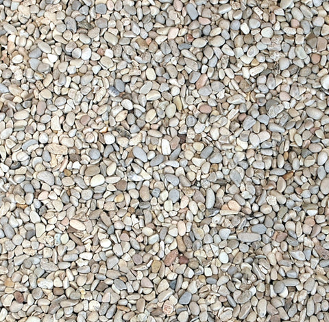 Rounded Aggregate, Ivory, 3/8""