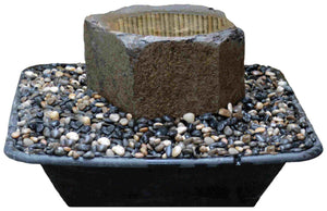 "Large (~30"" Diameter) Dish Rock Fountain Kit"