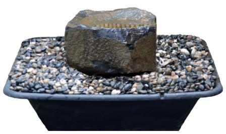 "Medium (~22"" Diameter) Dish Rock Fountain Kit"