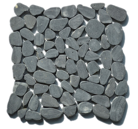 Sliced Black Pebble Tile