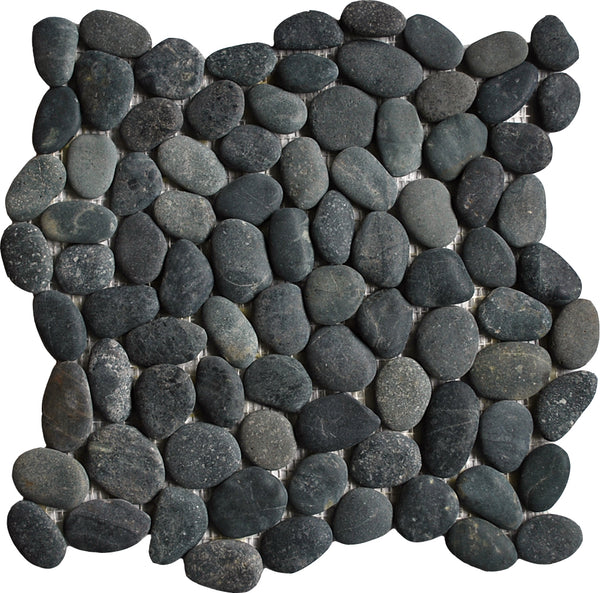 Natural Black Pebble Tile
