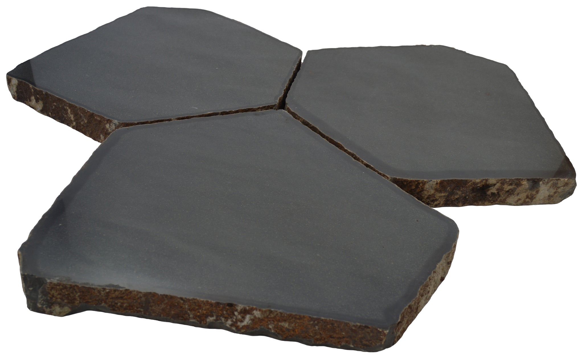 "Basalt Pavers (Hexagon), 20-24"" Diameter, Polished Finish"