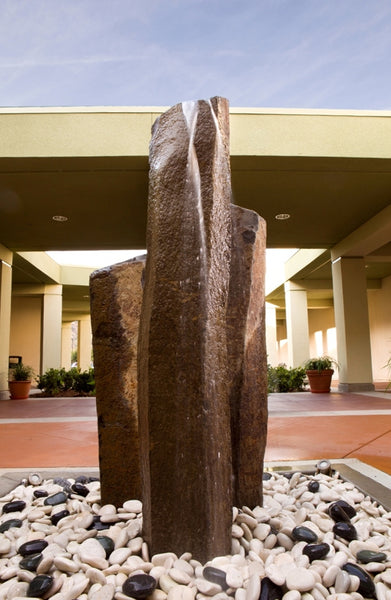 "Red Bluff Basalt Fountain, ~15"" Wide"