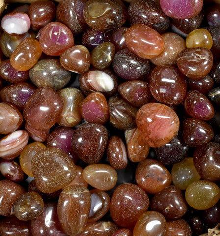 Ruby Red Onyx Exotic Pebbles