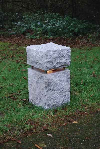 "Chiseled Granite Lights, 12"" Base"