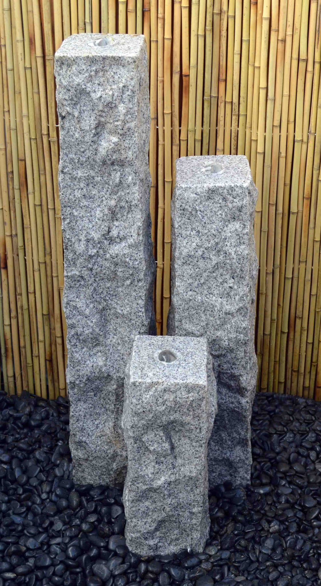 "Natural Granite Fountains 8"" Base"