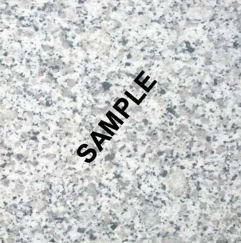 "Honed Salt & Pepper Granite Sample, ~4"" x 8"" x 1/2"""