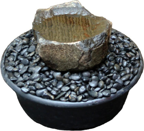 "Small (~16"" Diameter) Dish Rock Fountain Kit"