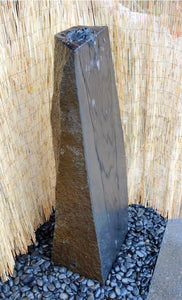Custom Basalt Fountain - Polished Sloping Side Cut