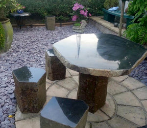 Basalt Table & Chairs