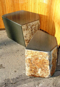 Basalt Seat with Polished Top and Face