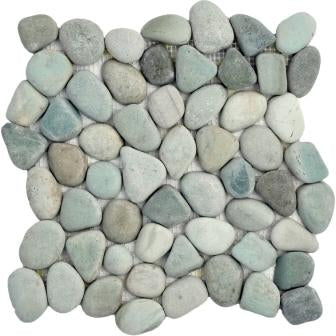 Natural Green Pebble Tile