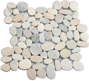 Sliced Mixed Pebble Tile