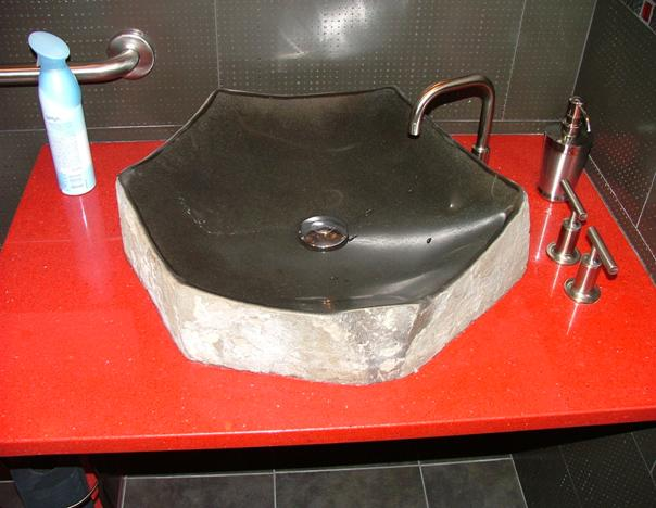Polished Basalt Sink