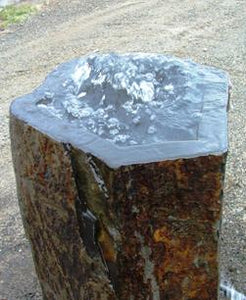 Custom Red Bluff Basalt Fountain - Planter Top