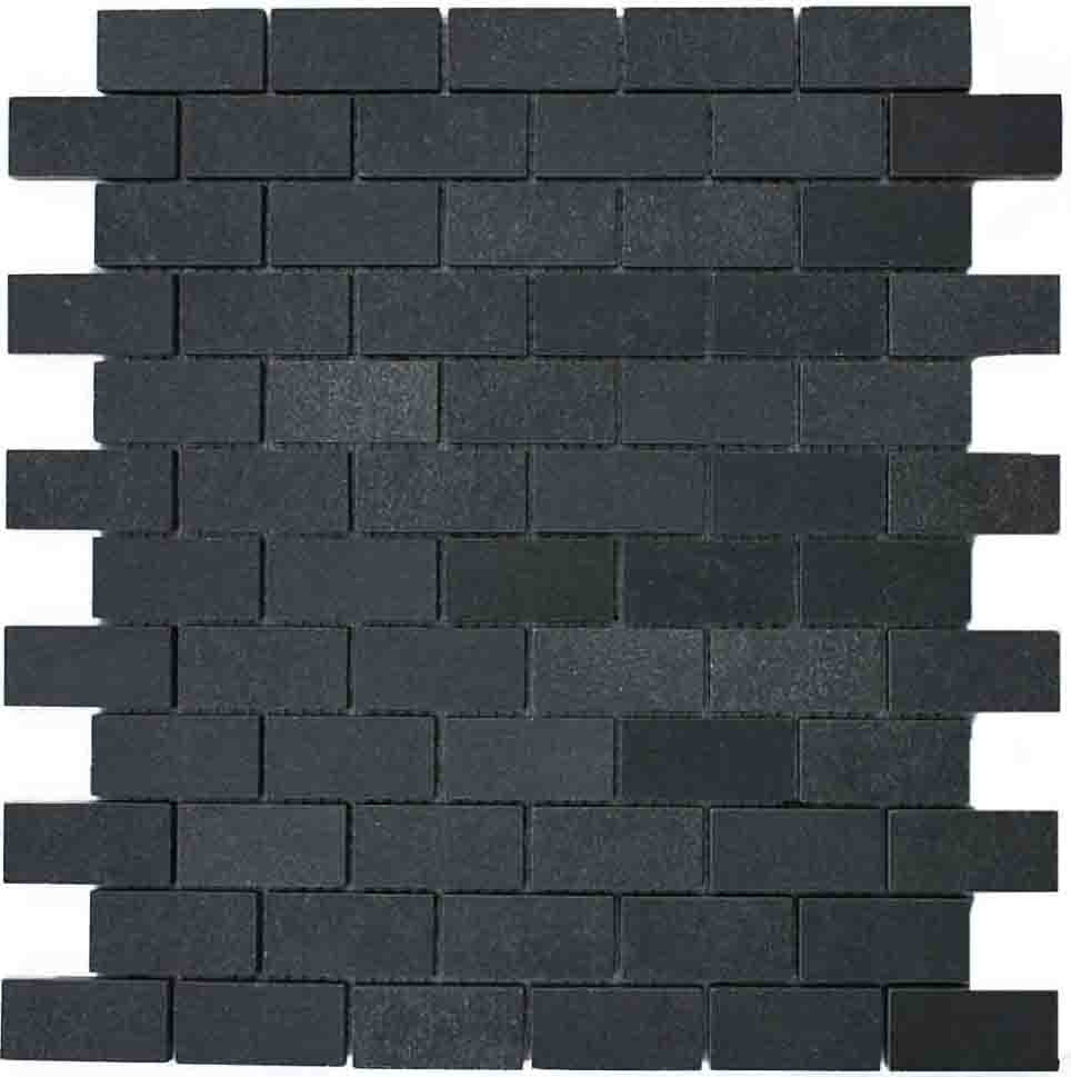 "Subway 1x2""  Basalt Mosaic Tile"