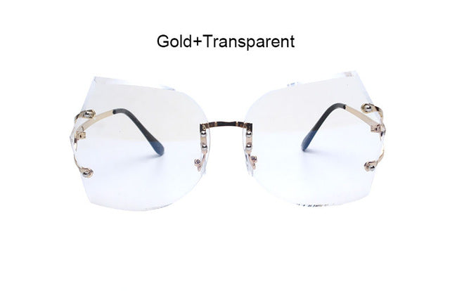 Absolute Rimless Gradient Clear Sunglasses