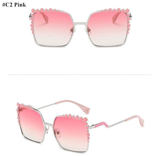 Icey Oversized Aviation Square Sunglasses