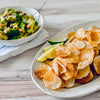 Baked Taro Chips and Guacamole