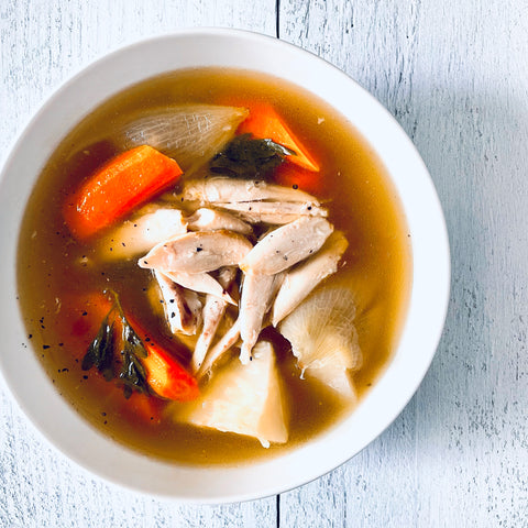 Herb-Smoked Chicken Soup