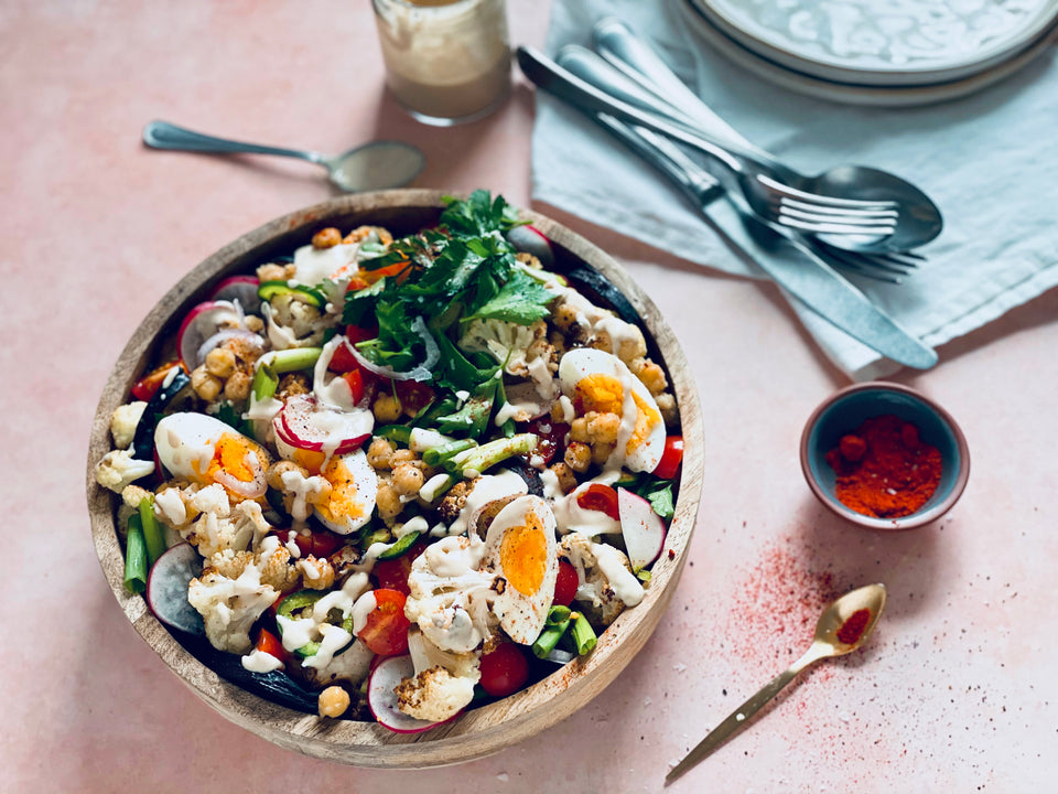 Brunch Salad with Tahini Dressing