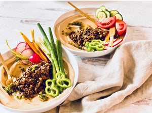 Hummus Bowls with Spiced Ground Beef