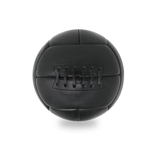 Vintage Leather Soccer Ball - Black 12 Panel