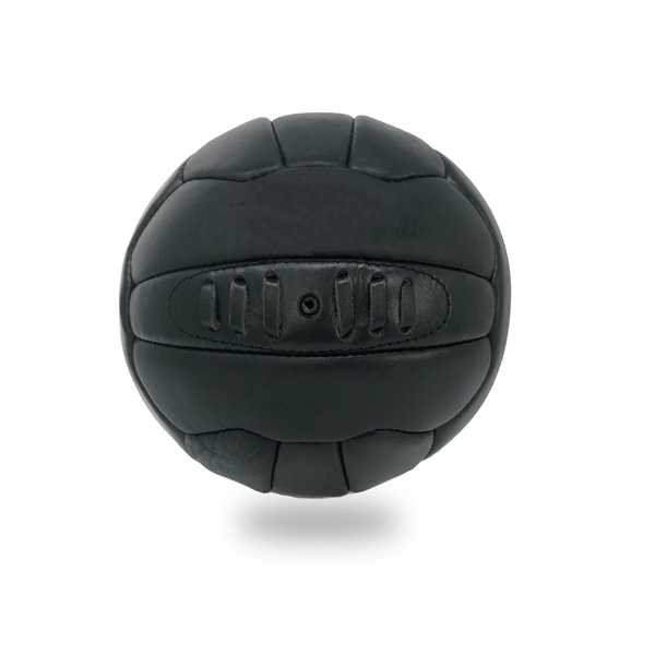 Vintage Leather Soccer Ball - Black 18 Panel