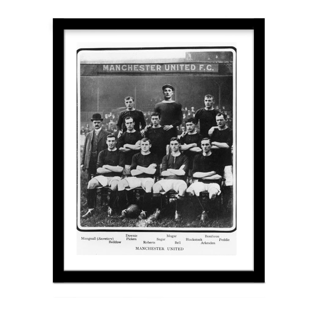Vintage Manchester United 1905 Team Photo