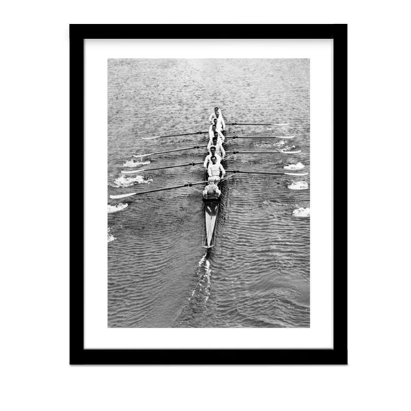 Cambridge Crew Rowing team 1930 vintage framed photo