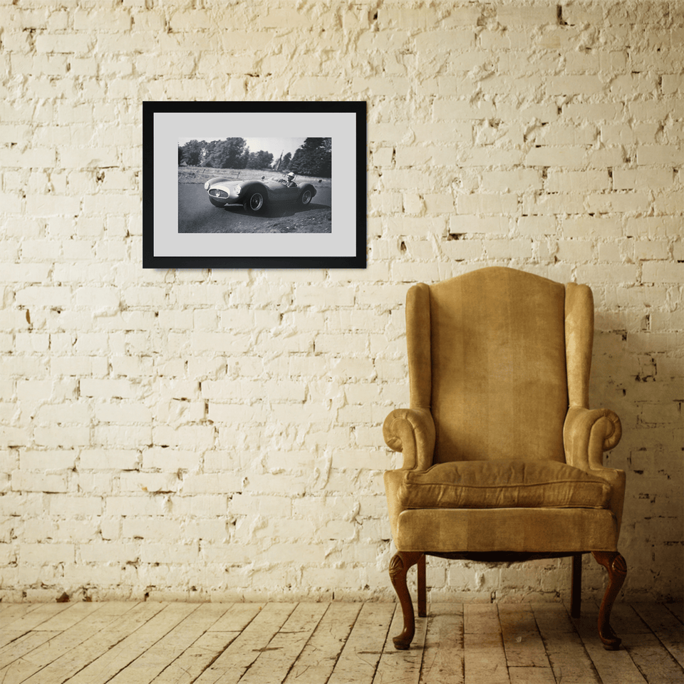 Classic car 1955 Motorsports Framed Vintage Photo