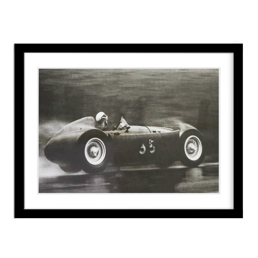 Motorist Competing in the 1955 Belgium Grand Prix Frame Photo