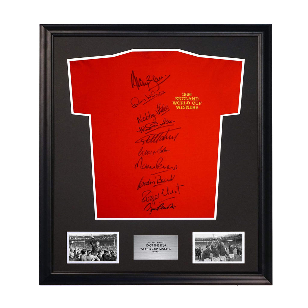 England National Team 1966 World Cup Soccer Jersey Signed by 10 Players