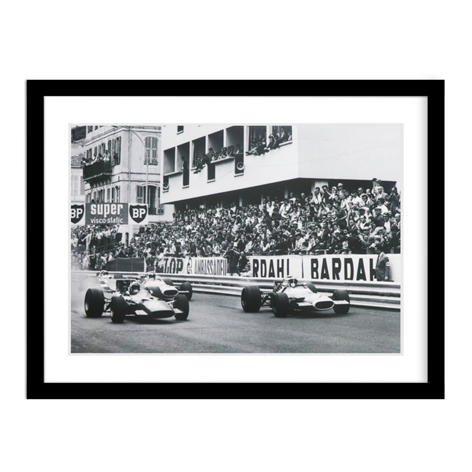 1969 Monaco Grand Prix Classic Car Framed Photo
