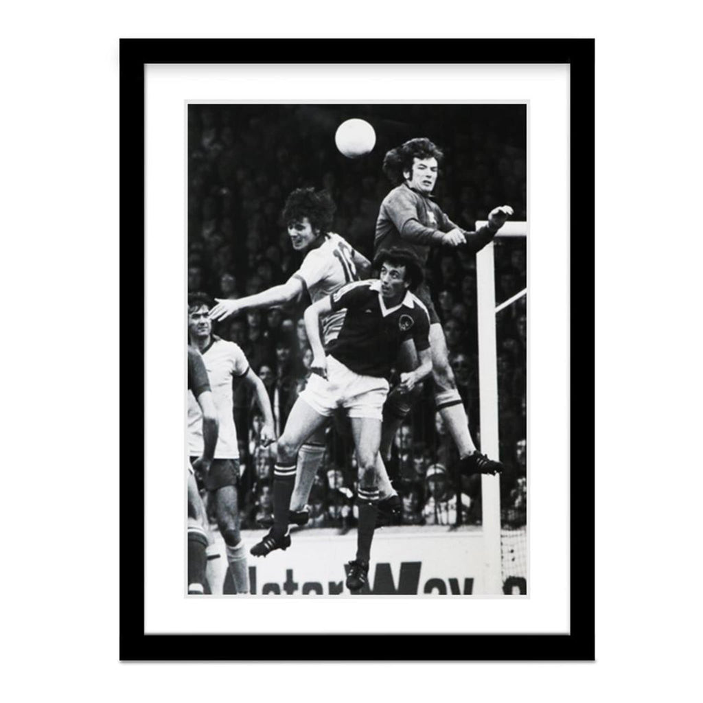 England 1977 Vintage Framed Soccer Photo