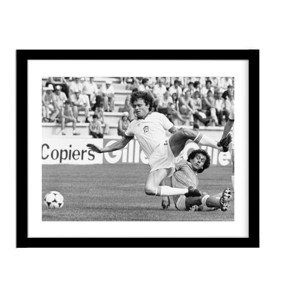 1982 World Cup Soccer Vintage Framed Photo