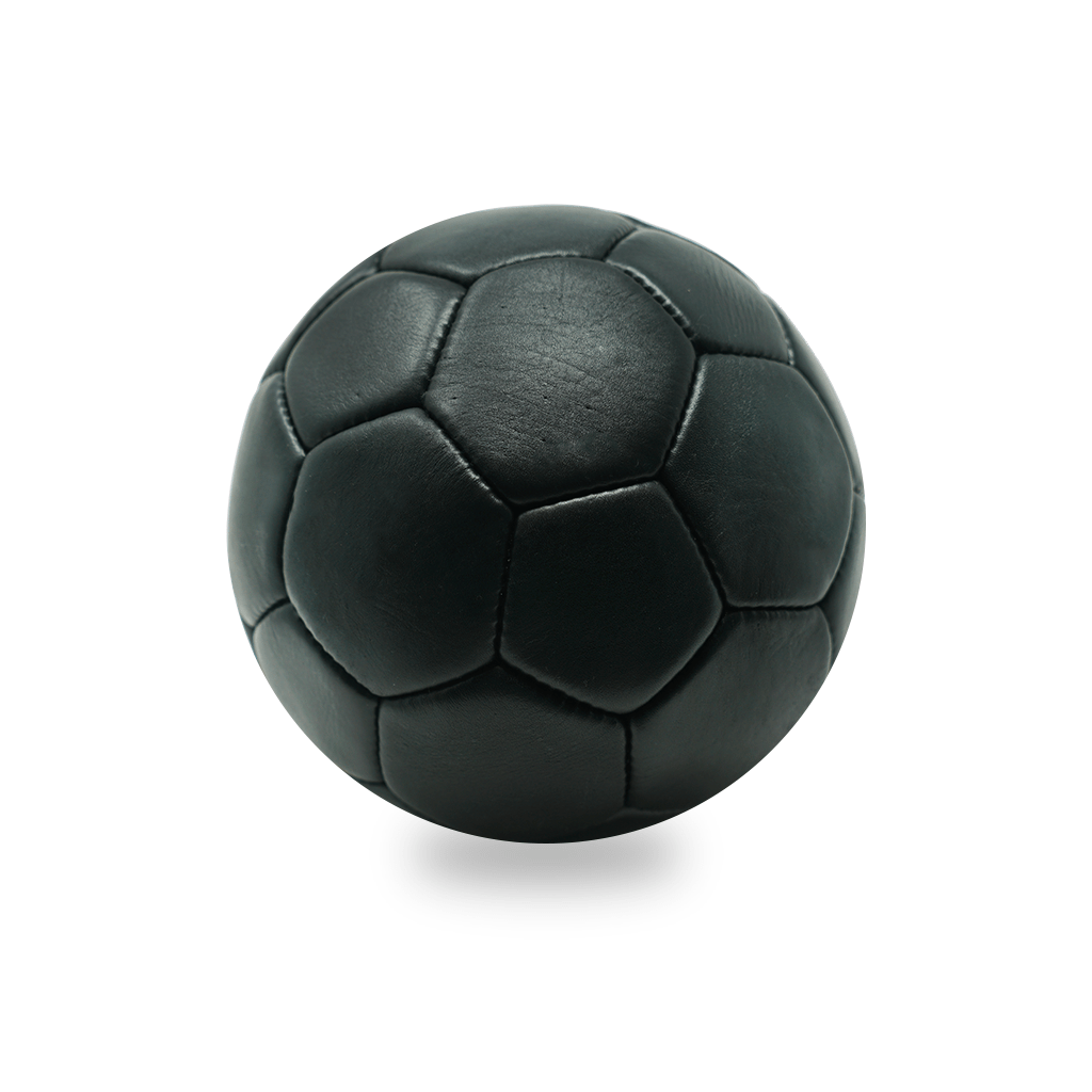 Vintage Leather Soccer Ball - Black 32 Panel