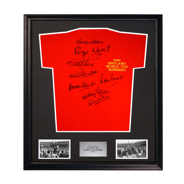 1966 England World Cup Winners Soccer Shirt Signed by 8 Players