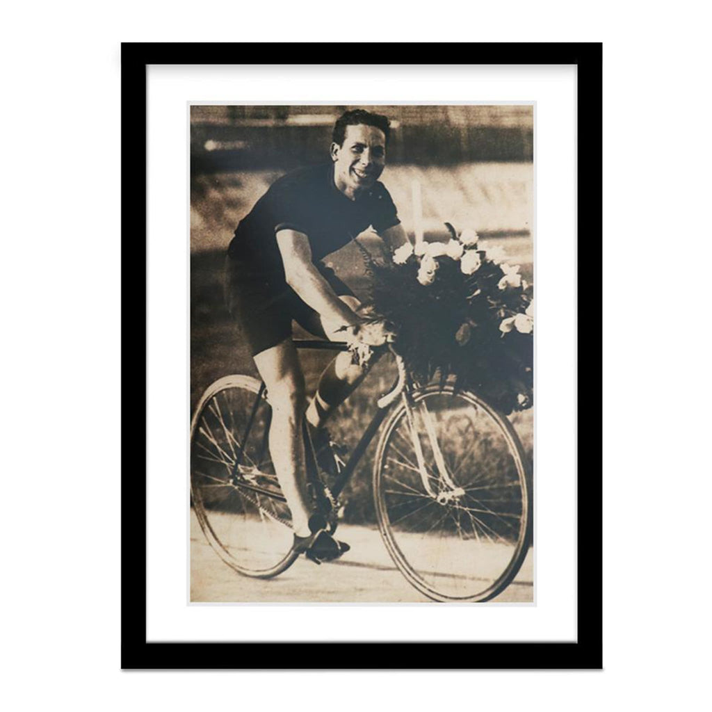 Alberto Gihlardi Gold Medal Celebration Vintage Photo