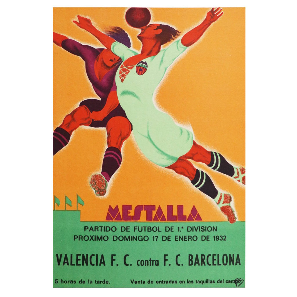 Vintage 1932 Valencia and Barcelona Poster